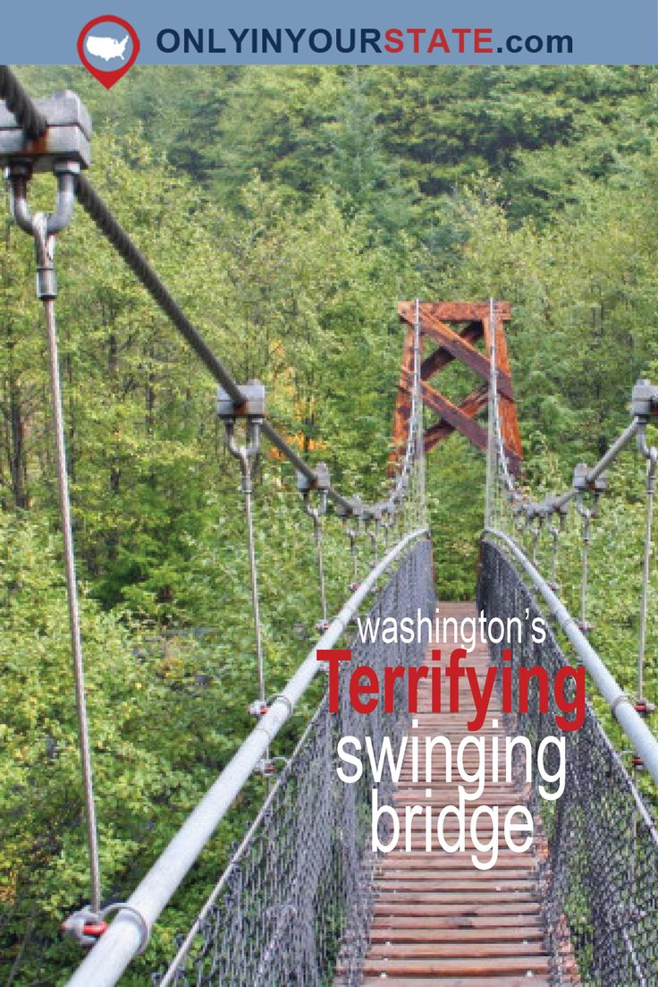 Travel | Washington | Swinging Bridge | Adventure | Bucket List | Heights | Outdoor | Challenge | Scenic