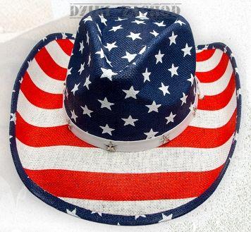 kapelusz słomkowy FLAGA USA