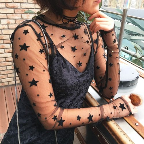 "littlealienproducts: ""Sheer Starry Shirt ✨ Use 'LittleAlien' to get 10% off! """