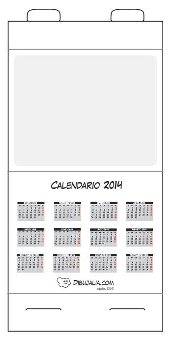 Calendario de mesa 2014 y plantillas Dibujalia