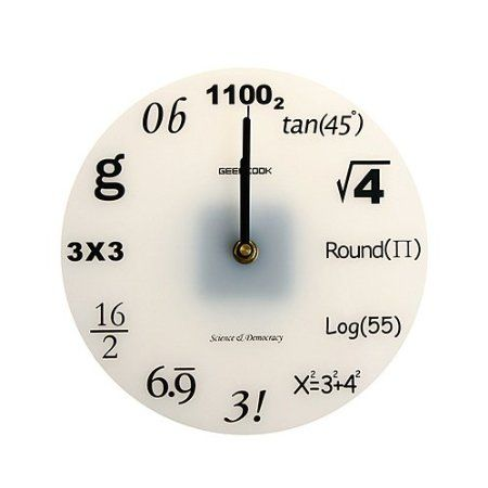 Math Nerd Wall Clock I actually really want this...