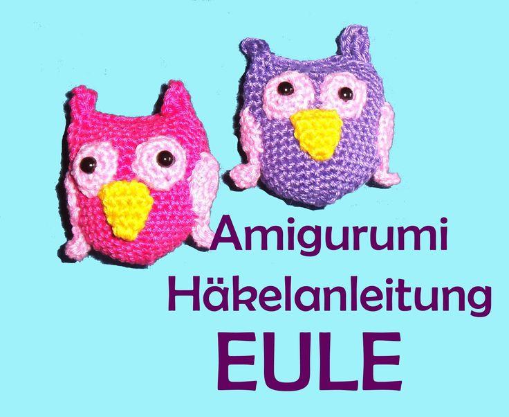 Eule Amigurumi Häkelanleitung - Romy Fischer