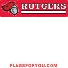 Rutgers Scarlet Knights Banner 8' x 2'