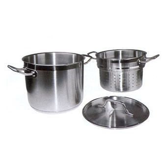 Check out the deal on Master Cook Double Boiler with Cover, 16 quart, 18/8 stainless steel with 5 millimeter thick aluminu at Restaurant Equipment and Supplies Online : Restaurant Depot