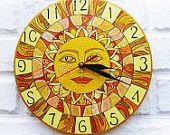 Желтое солнце настенные часы Home Decor для детей Детские Малыш мальчик девочка Питомник игровая комната