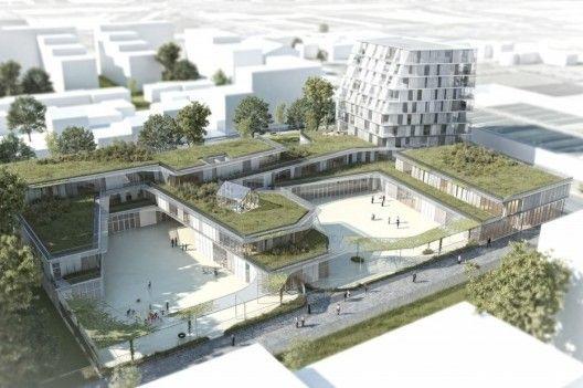 propuesta ganadora para colegio y residencia estudiantil / chartier dalia arquitectes