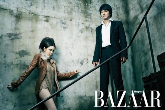 "thewhoreticulturist: "" Harper's Bazaar Korea Shin Se Kyung & Song Kang Ho """