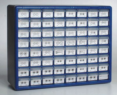 Ateco Organizing Storage Container Helps To Organize Pastry Tips. Includes  Labels Of 121 Of The