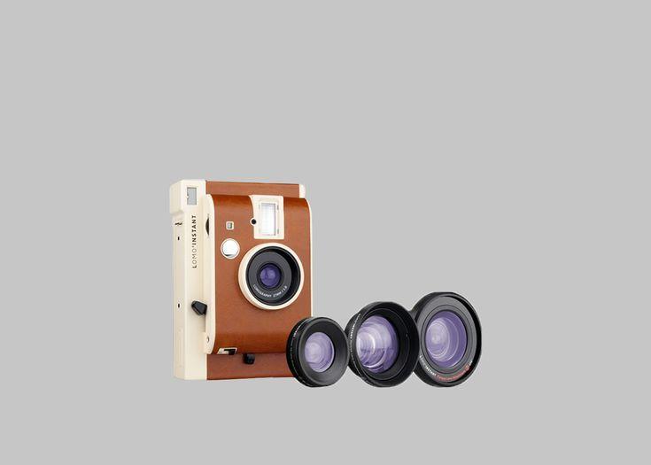 Appareil photo instantané et 3 objectifs, 3 modes de prise de vue, flash en mode automatique (vous pourrez facilement obtenir d'incroyables photos instantanées)