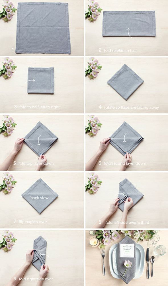 paper napkin folding styles The humble paper napkins can be presented in a better way if you get to know proper paper napkin folding instructions.