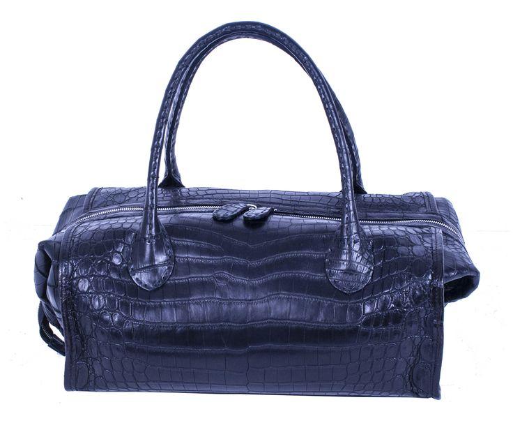 Vanity Case - Genuine Cocodrile - Black