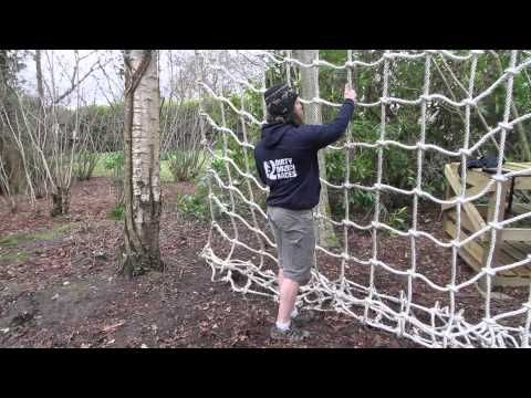 How to climb a vertical cargo net at an obstacle race - YouTube