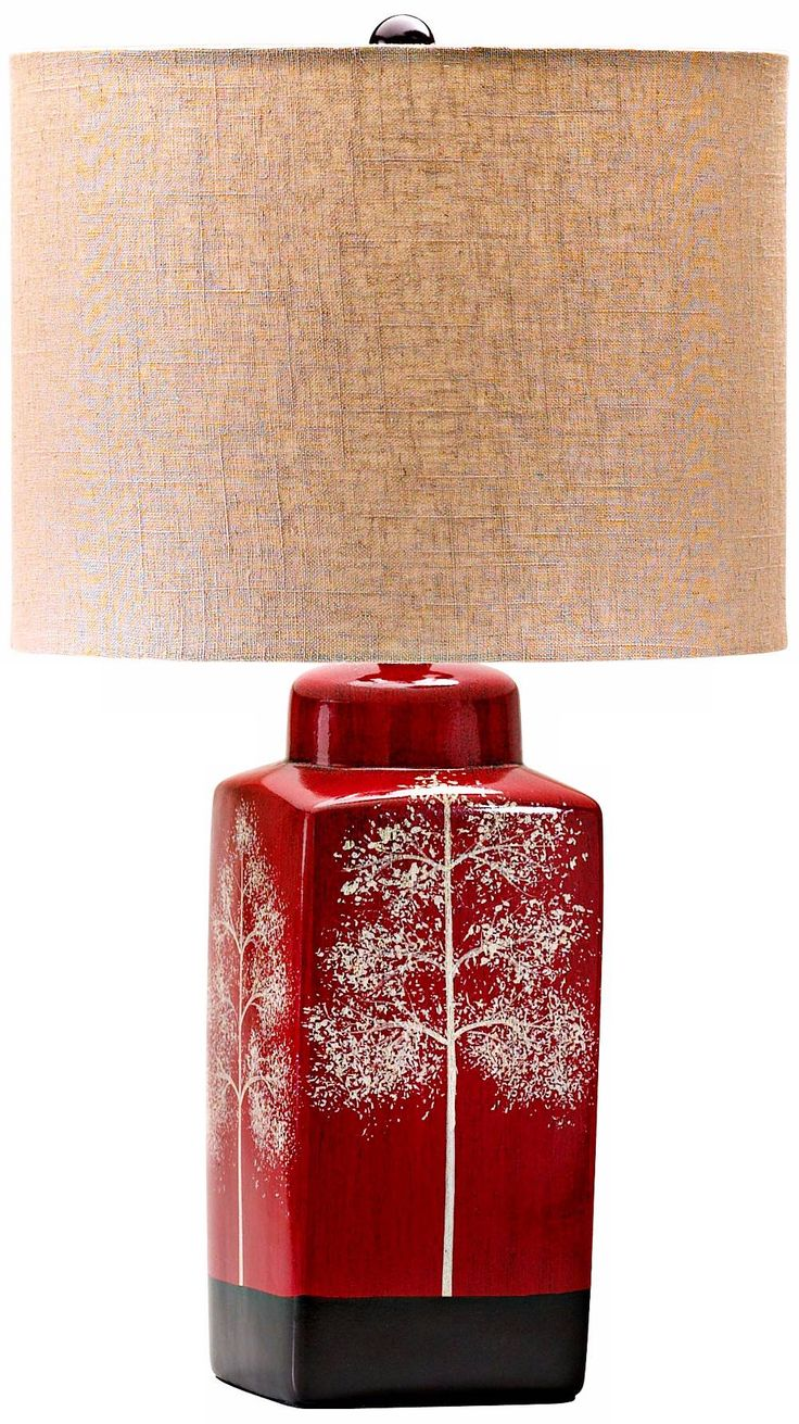 Ceramic table lamps red - Thomas Branch Details Red Table Lamp
