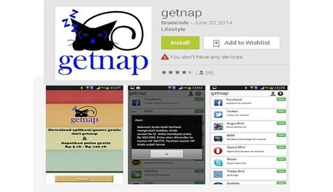 Application Getnap For Android.