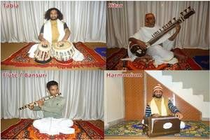 """Om Shanti Om Yoga School also provides Indian Classical Music Classes. The classes are based on appointment requested by students. We provide music classes such as """"Harmonium"""" """"Tabla"""" """"Flute"""" and """"Sitar""""."""