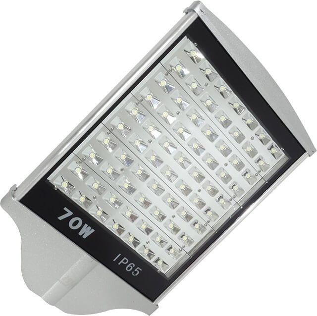 LAMPA STRADALA LED 70W ALB RECE este alegerea perfecta datorita carcasei si sistemului de iluminare cu 70 Power LED-uri. Carcasa din aluminiu profilat ajuta la racirea LED-urilor si la cresterea duratei de viata a lampii.