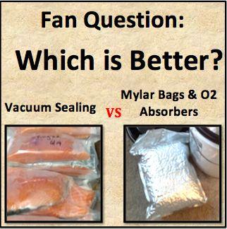 Vacuum Sealing Vs Mylar Canned Food Storage Food