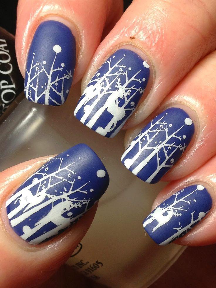 De l'inspiration pour réaliser un Nail Art sur le thème de Noël. #nailart #noel #npa #manucure #vernis #nailpolish
