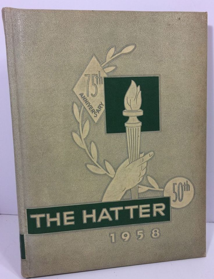 1958 College Yearbook Stetson University Florida 75th Anniversary The Hatter  | eBay