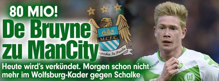 Entscheidung im Wolfsburger Transfer-Poker gefallen: Kevin De Bruyne zu Manchester City http://www.bild.de/sport/fussball/de-bruyne-kevin/zu-manchester-city-42341390.bild.html