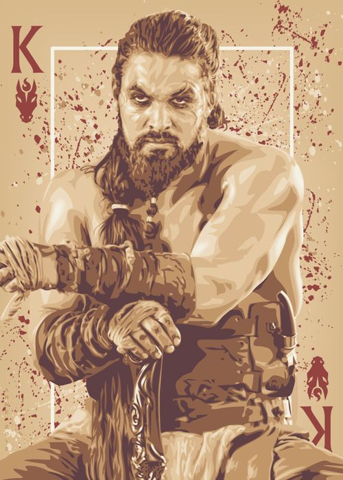 Khal Drogo- Game of Thrones playing cards posters (2012-2014) by ratscape