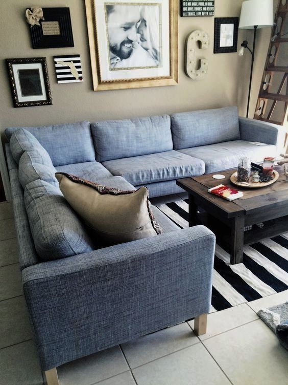 Perfect IKEA Karlstad Grey Sectional. LOVE So Much!