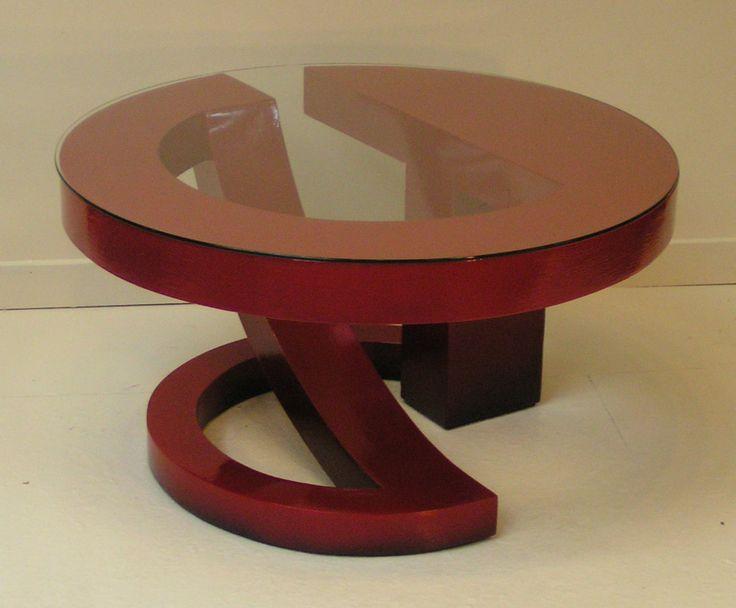 Red Coffee Table 2 by John Wilbar (Wood Coffee Table)   Artful Home