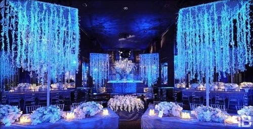 Blue Glow In The Dark Venue Wedding Pinterest Reception And Weddings