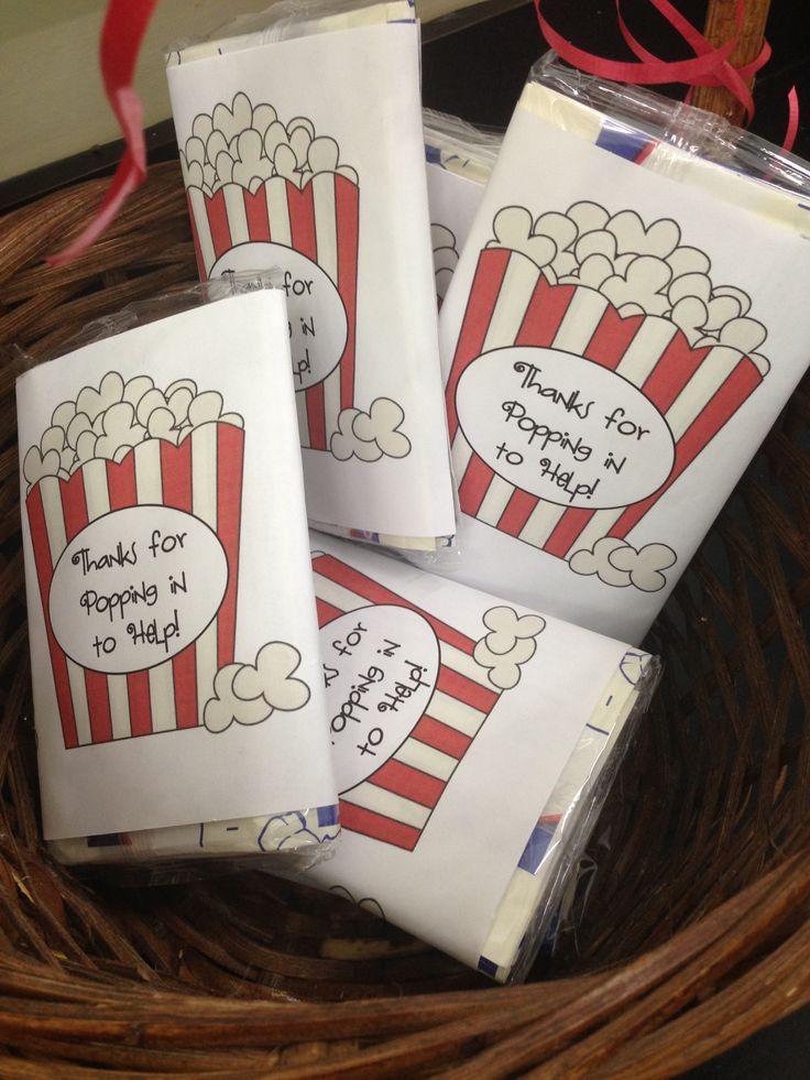 A farewell/thank-you gift! Popcorn + a pun! Pop that ...