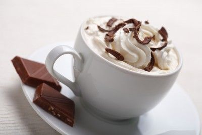 Dark Chocolate Coffee Hot chocolate coffee with whipped cream and it's healthy!
