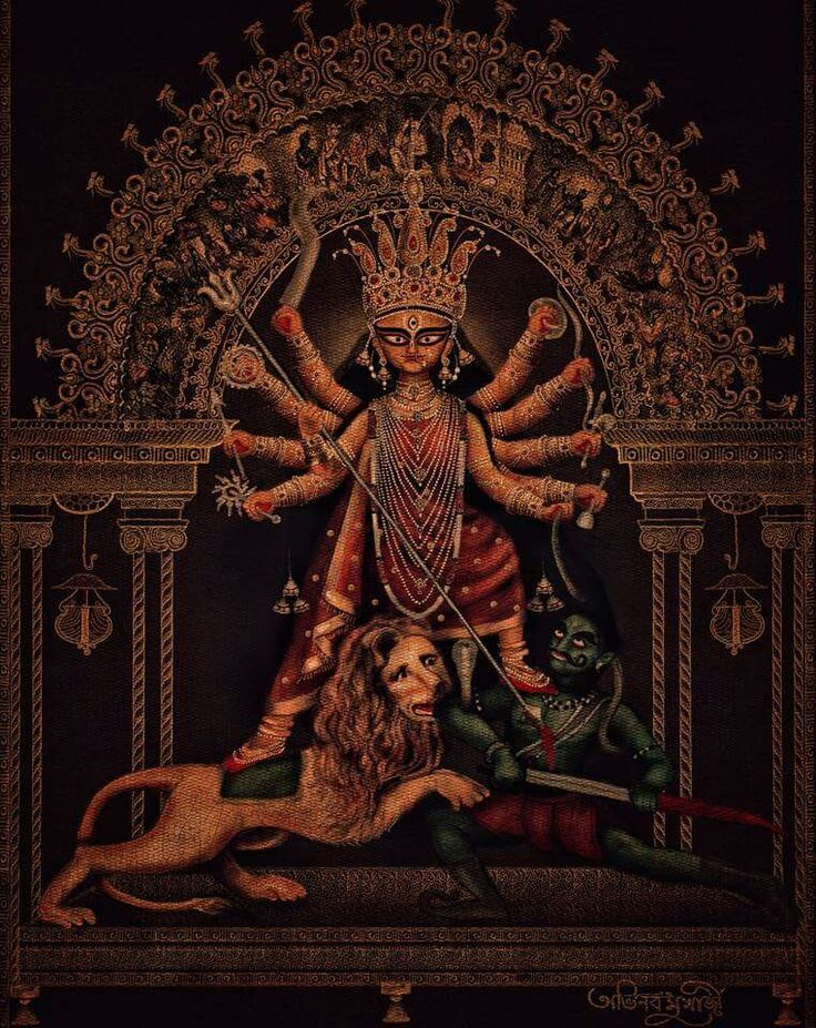 Mahisasurmardini  Maa Durga By Artist Avinab Mukherjee From Kolkata