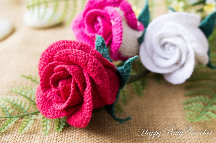 Small Rose Flower Crochet Pattern : Crochet Rosebud Flower - Crochet Rose for Bouquet and Home ...