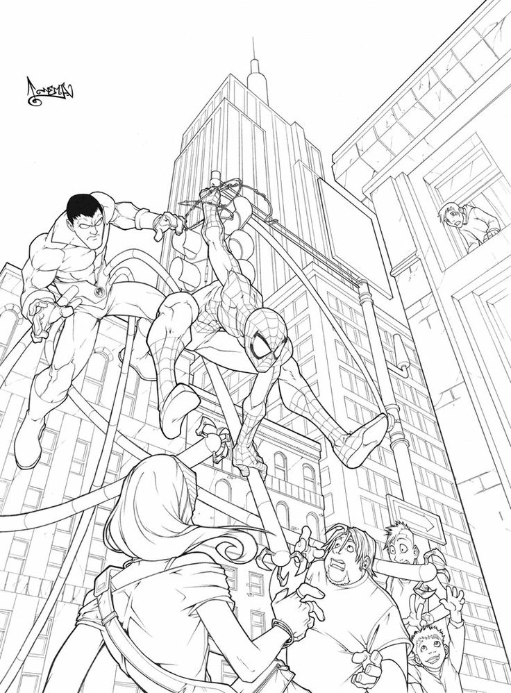 Red Spiderman Coloring Pages Fantasy Coloring Page