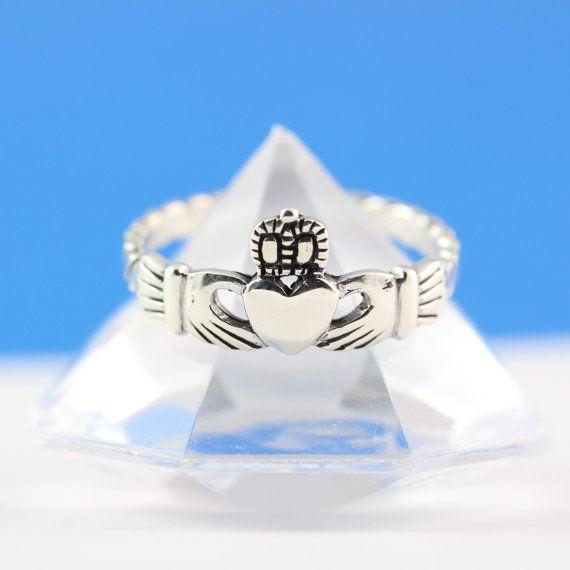Claddagh Ring, Stunning Sterling Silver Claddagh ring, Irish ring, Love, friendship, loyalty symbol . on Etsy, $21.80