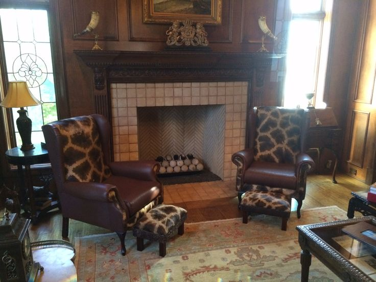 Giraffe Chairs delivered to our customers home, together with matching footstools