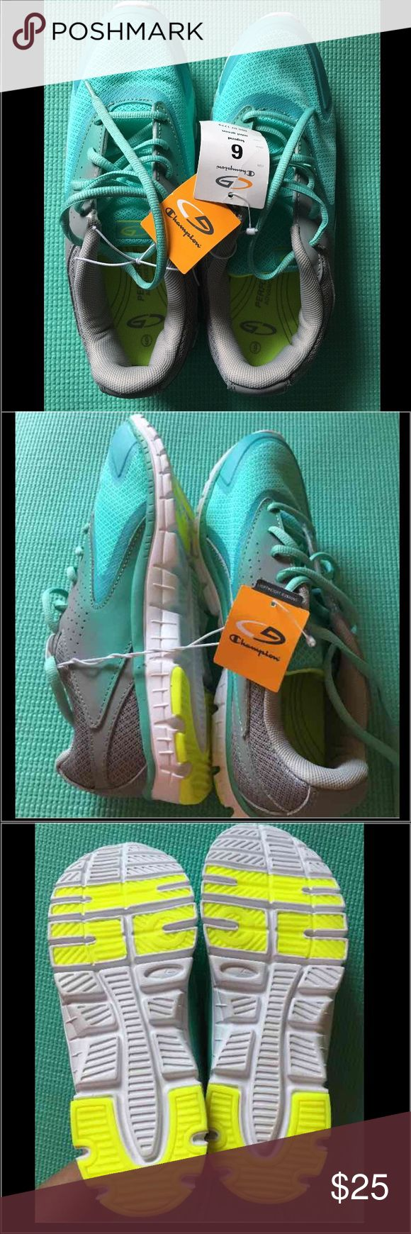 Champions Ladies Running Sneakers Champions Women's Sea Foam Green Running Shoes Champion Shoes Athletic Shoes