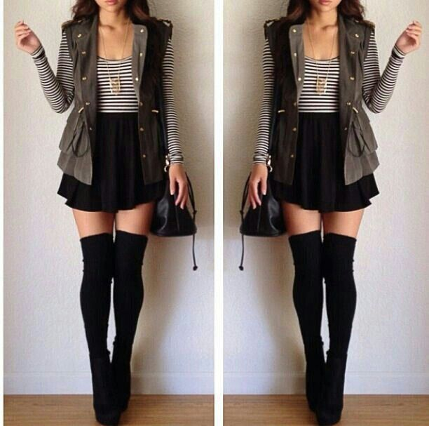 20 Style Tips On How To Wear Thigh-High Socks - Best 25+ Knee High Socks Ideas On Pinterest Knee Socks, High