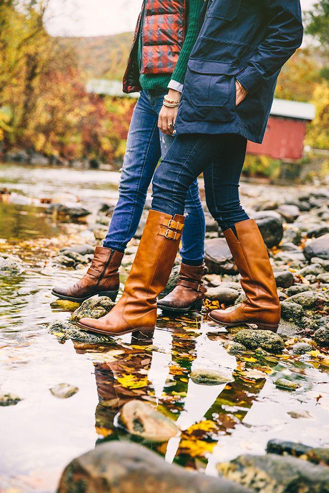 Classy Girls Wear Pearls: Rain Date | Clarks boots