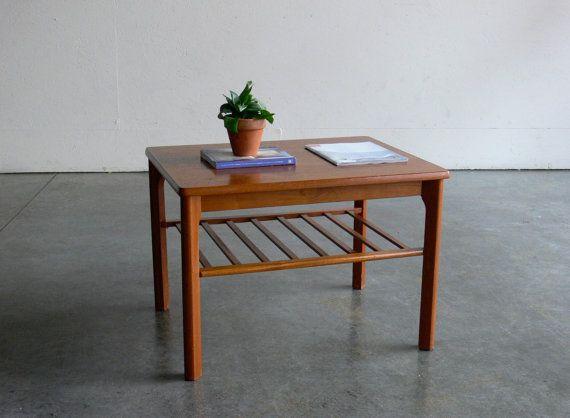 Vintage Danish Modern Toften Side/End Table on Etsy, $159.00