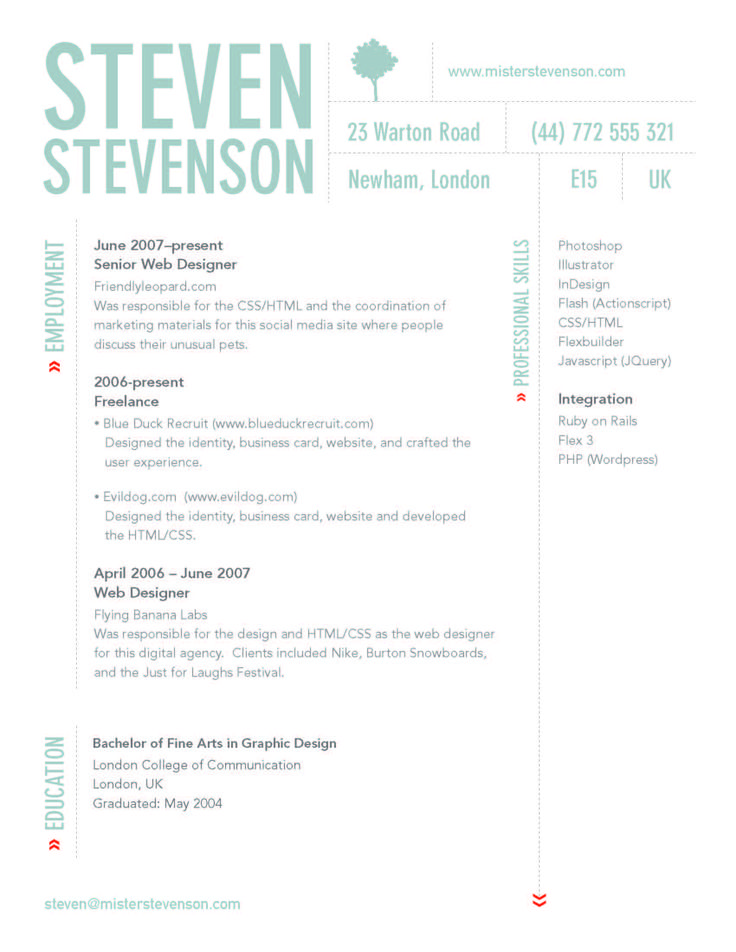 Best Creative Resumes Images On   Page Layout
