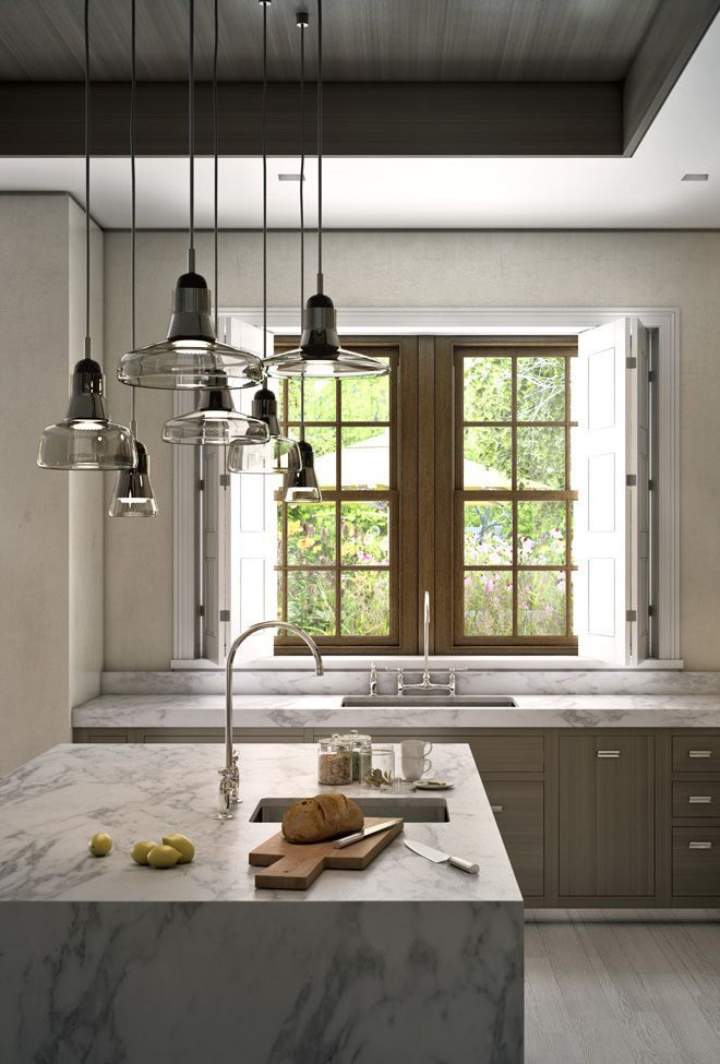 The pickling treatment gives a soft gray tone to the modern inset wood cabinets_March Made