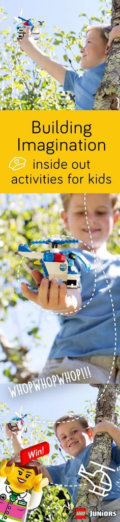 Getting outside to play and unplug is an important part of childhood. LEGO JUNIORS is a fun way for your child to express himself, inside/outside, with fun themes from super heroes, police, shops and princesses.