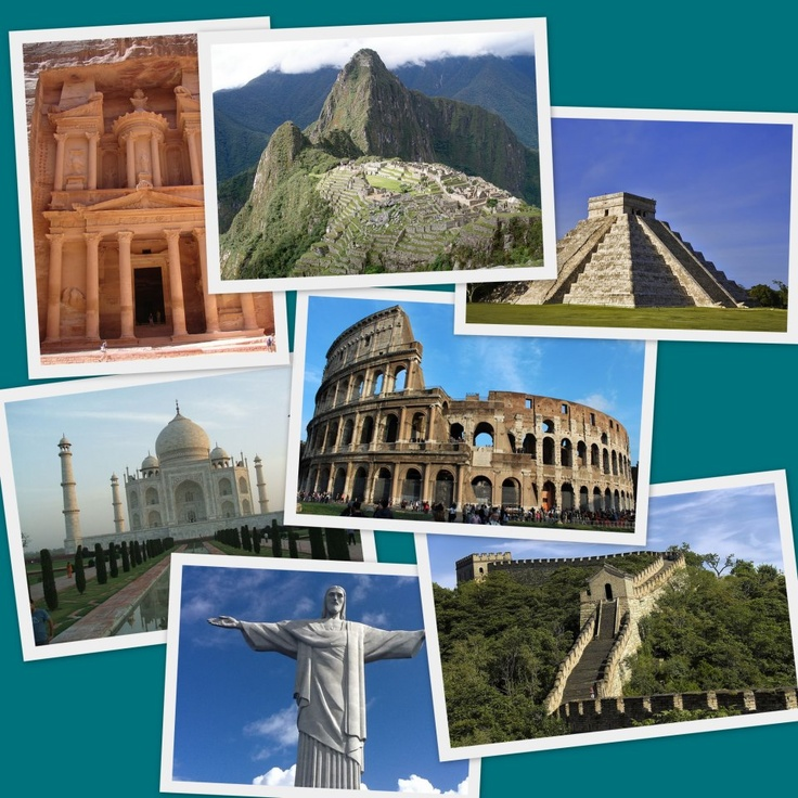 the seven wonders of the world - 736×736