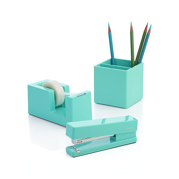 Poppin ® Aqua Office Accessories | Crate and Barrel