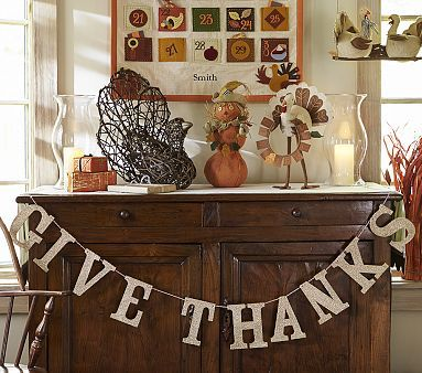 Give Thanks Glitter Garland