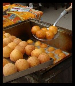 Great Buñuelos from Colombia. Fried cheesey street food goodness discovered by Nancy ..., ,