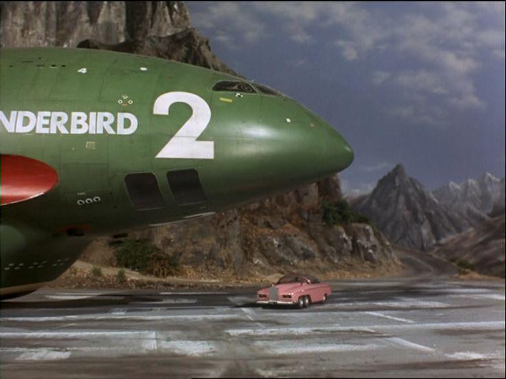 "Thunderbird 2 and FAB 1 in ""The Perils of Penelope,"" Thunderbirds, 1965"