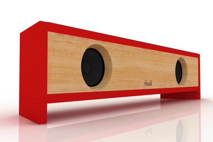 #speaker #red #wood #fullrange #render #audio #sound #houd  www.houdsound.com