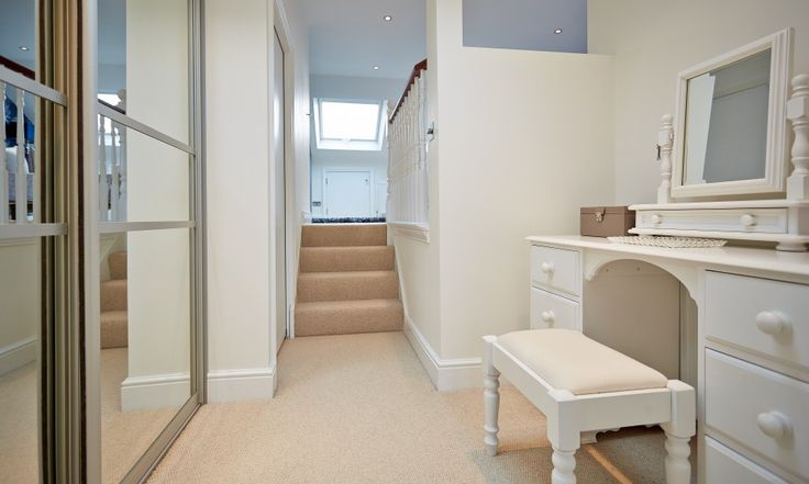 Add a touch of glamour! Create a dressing area in your loft conversion, as @Jessica Landmark Group (UK) LTD did in this home.