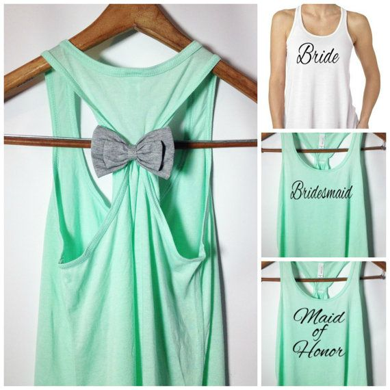 Bridal Party Tank Tops / Bridesmaid Tank Top by BridalBlissCouture, $24.95